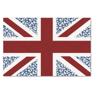 Union Jack Flag Calico Floral Pattern Tissue Paper