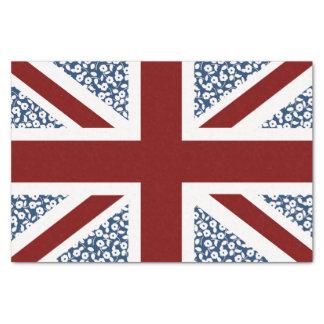 Union Jack Flag Calico Floral Pattern Tissue Paper
