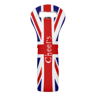 Union Jack Flag Cheers Wine Bag