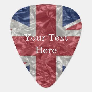 Union Jack Flag - Crinkled Guitar Pick