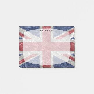 Union Jack Flag - Crinkled Post-it Notes