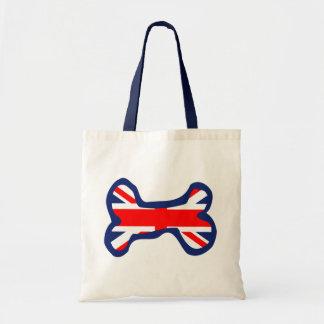 Union Jack Flag Dog Bone Art Tote Bag