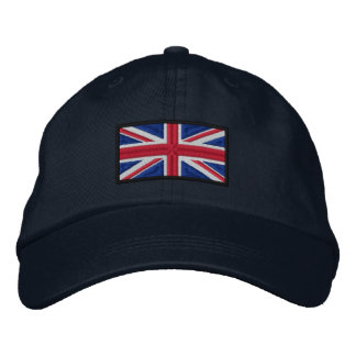 Union Jack Flag Embroidered Hats