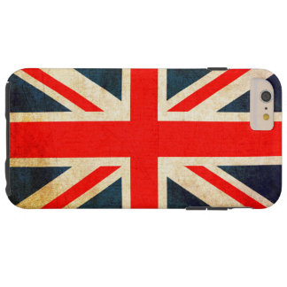 Union Jack Flag in Grunge Tough iPhone 6 Plus Case