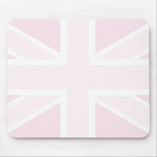 Union Jack Flag in Pink Mousepad