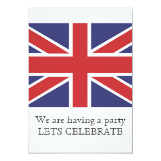 Union Jack Flag Invitation