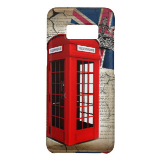 union jack flag jubilee crown red telephone booth Case-Mate samsung galaxy s8 case