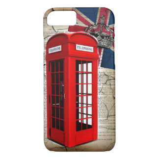 union jack flag jubilee crown red telephone booth iPhone 8/7 case