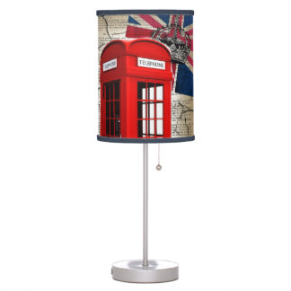 union jack flag jubilee crown red telephone booth table lamp