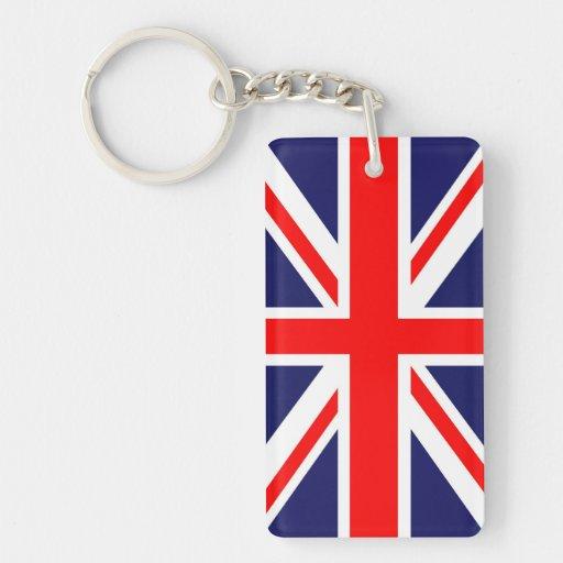 Union Jack flag Rectangular Acrylic Keychain