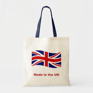 Union Jack flag made in the UK tote bag, gift