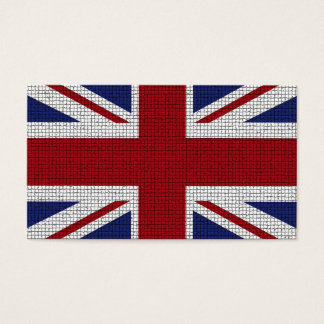 Union Jack Flag, Mosaic Effect, United Kingdom Business Card