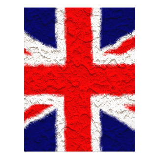 Union jack flag national country letterhead