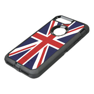 Union Jack Flag of Great Britain OtterBox Defender iPhone 7 Plus Case