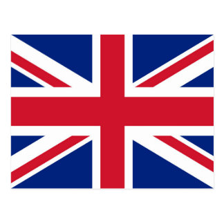 Union Jack flag of the UK - Authentic version Postcard