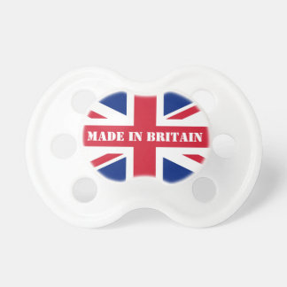 Union jack flag pacifier