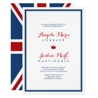 Union Jack Flag Patriotic Wedding 2 Card