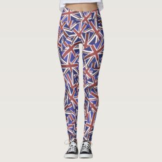 Union Jack flag Pattern. Leggings