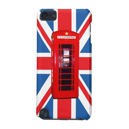 Union Jack/Flag & Phone Box Design iPod Touch (5th Generation) Case