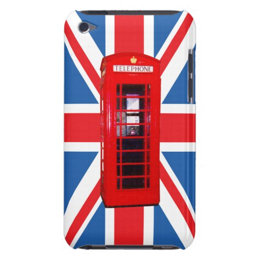 Union Jack/Flag & Phone Box Design Barely There iPod Covers
