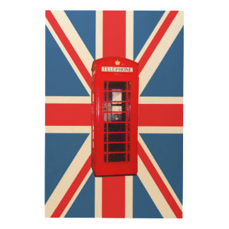 Union Jack/Flag & Phone Box Wood Prints