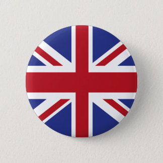 Union Jack Flag Pine Short prop Swipes in United 2 Inch Round Button