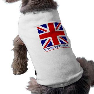 Union Jack Flag Plus Your Text Dog Tee