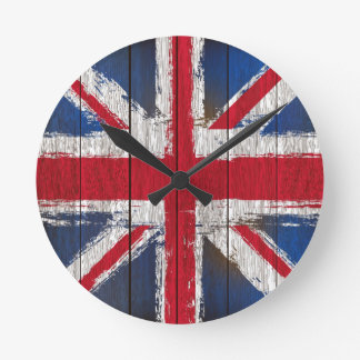 Union jack  Flag products Round Clock