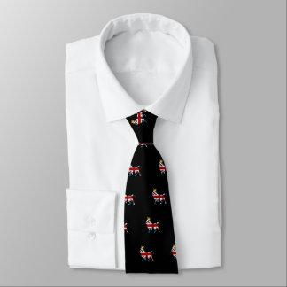Union Jack Flag Royal Lion and Crown Tie