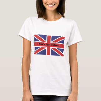 "Union Jack Flag ""She's Got Talent""Fitted Tee Shirt"