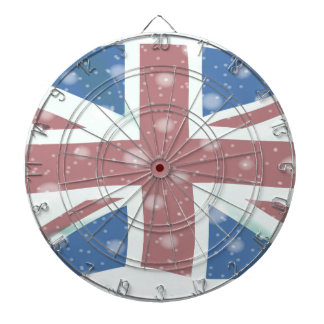 Union Jack Flag Snowflakes Dartboards