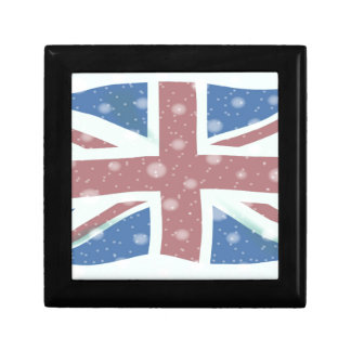 Union Jack Flag Snowflakes Gift Box
