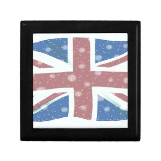 Union Jack Flag Snowflakes Keepsake Boxes