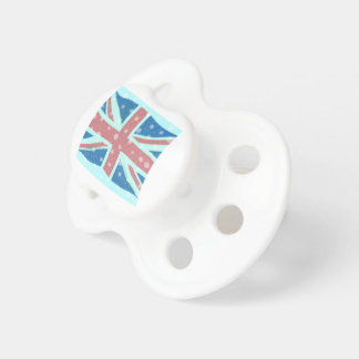Union Jack Flag Snowflakes Pacifier