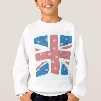 Union Jack Flag Snowflakes Sweatshirt