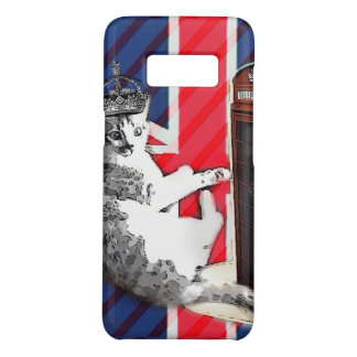 union jack flag telephone booth crown kitty cat Case-Mate samsung galaxy s8 case