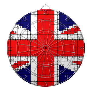 Union jack flag uk patriotic dartboard