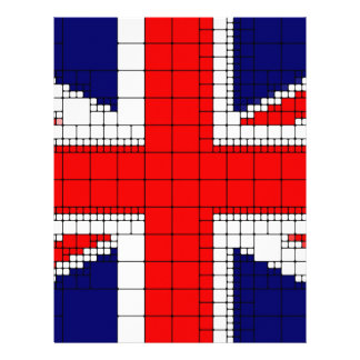 Union jack flag uk patriotic letterhead