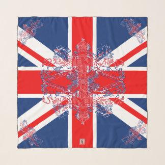 Union Jack Flag Union Jack Lion Unicorn Emblem Scarf