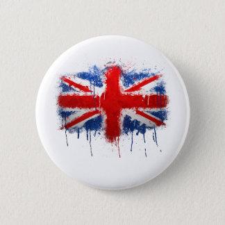 Union Jack Graffiti 2 Inch Round Button