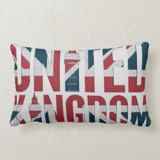 Union Jack Great Britain Flag Big Ben Concept Lumbar Pillow