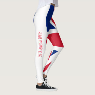 Union Jack Great Britain Personalize Leggings