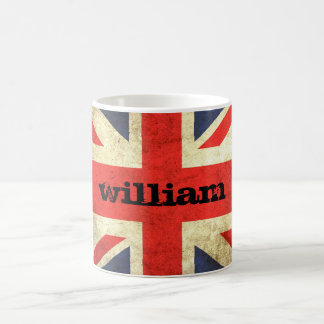 Union Jack Grunge Personalized Mug