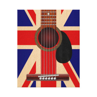 Union Jack Guitar Canvas Print