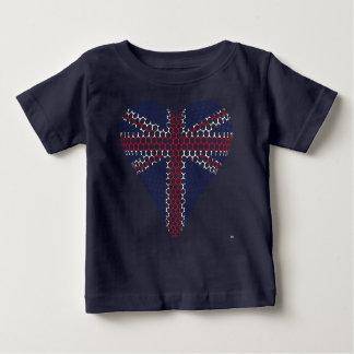 Union Jack Heart Baby T-Shirt