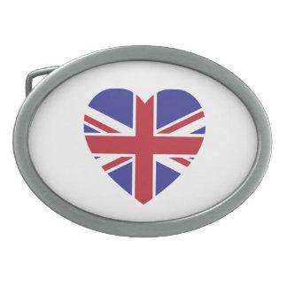 Union Jack Heart Belt Buckle