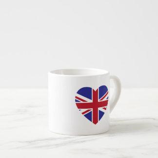 Union Jack Heart Espresso Mug