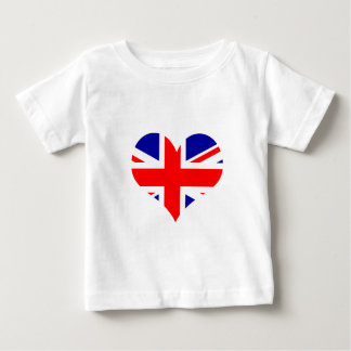 Union Jack Heart Flag Baby T-Shirt