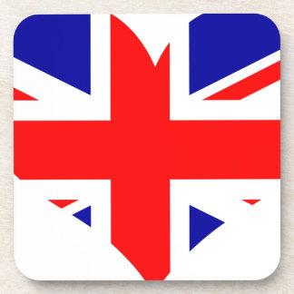 Union Jack Heart Flag Coaster
