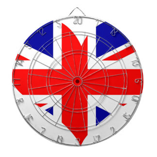 Union Jack Heart Flag Dartboard